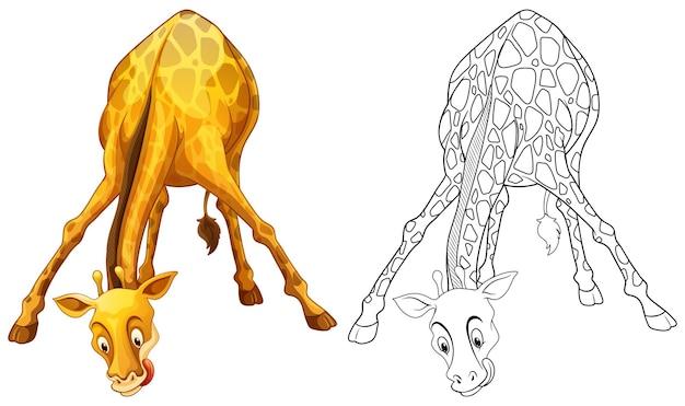 キリンのための落書きドラフト動物