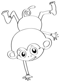 猿のための落書きドラフト動物