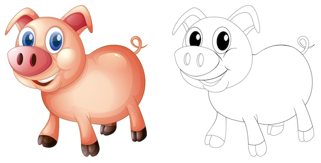 豚のための落書き製図動物