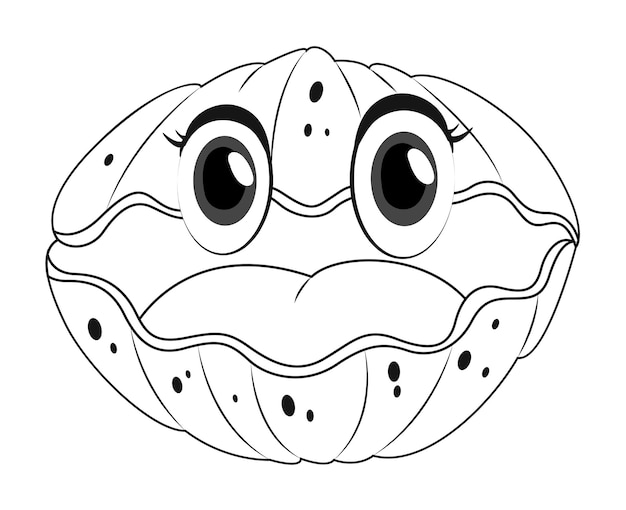 Doodles animale da disegno per conchiglia