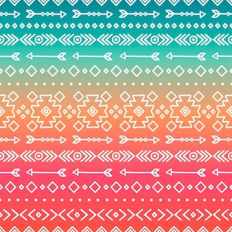 Ручной рисунок геометрического этнического племени. стиль doodles. полосы бохо