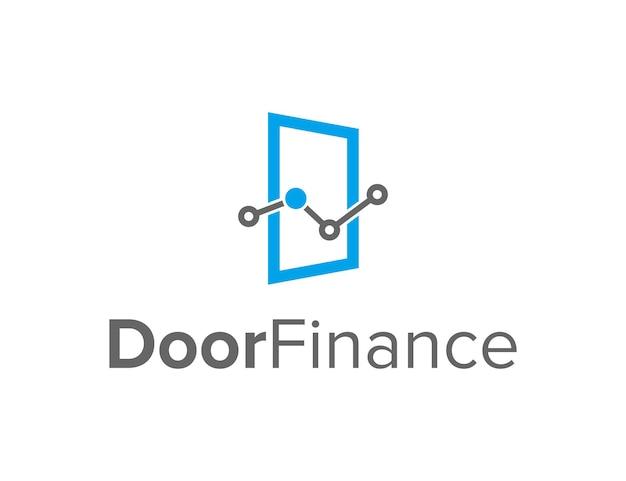 금융 산업을 위한 문 단순하고 세련된 창조적 기하학적 현대 로고 디자인