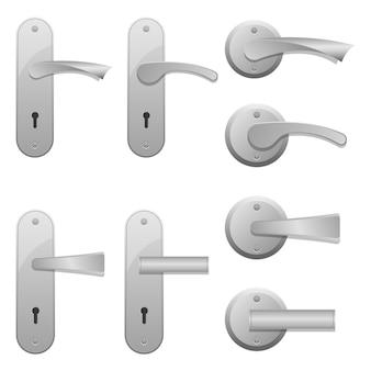 Door handles illustration isolated on white