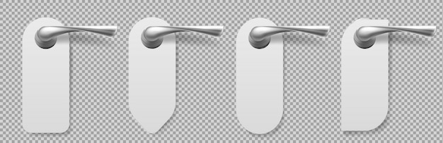 ハンガーが異なる形状のドアハンドル
