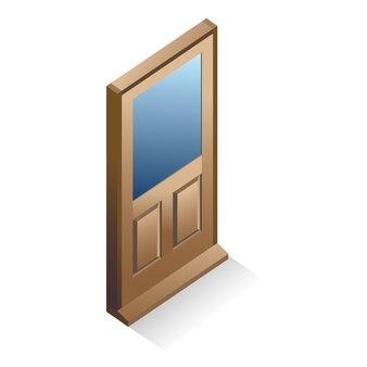 Дверь иллюстрации. игровые элементы