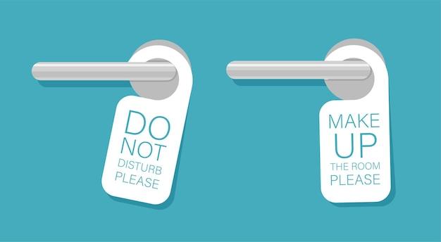 Door knob warning hangers set