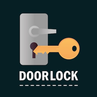 Door lock and key security and protection