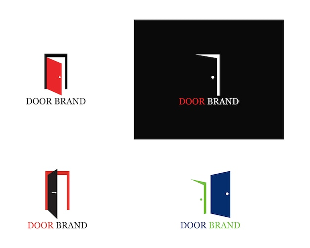 Door logo template illustration