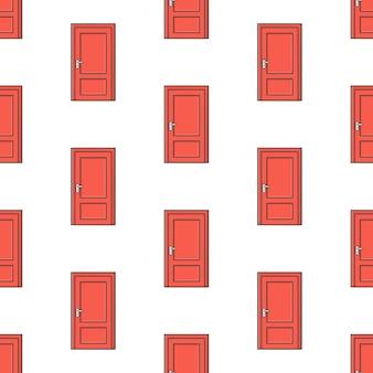 Дверь бесшовные узор на белом фоне. дом тема векторные иллюстрации