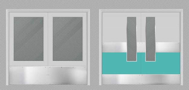 Doors for laboratory kitchen hospital school or food production storage