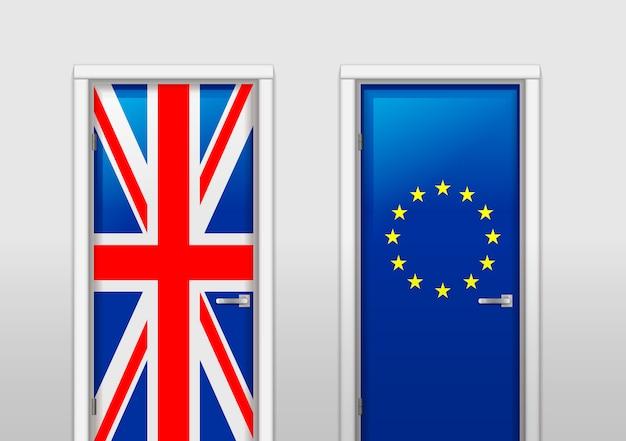 Двери с цветами флагов