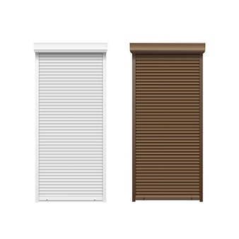 Doors with rolling shutters