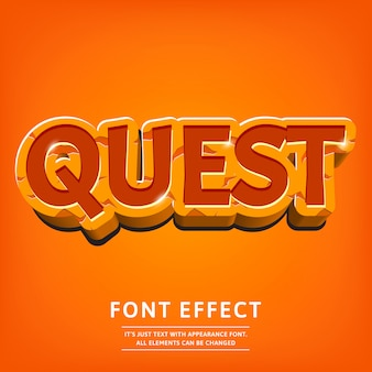 Dope 3d text effect for logo game or menu