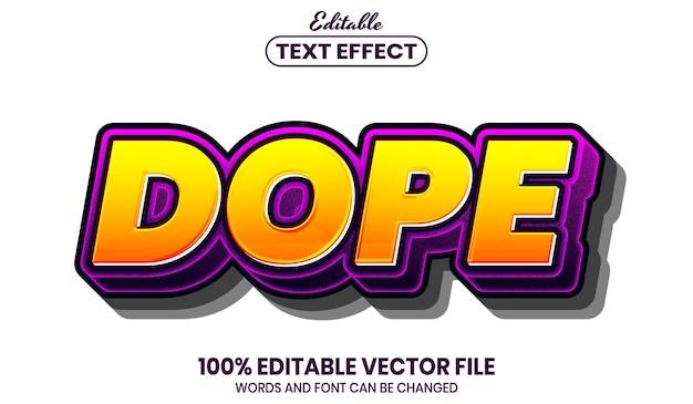 Допинг текст, редактируемый текстовый эффект стиля шрифта