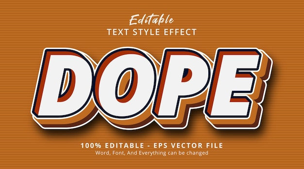 Dope text on modern layered style effect, editable text effect