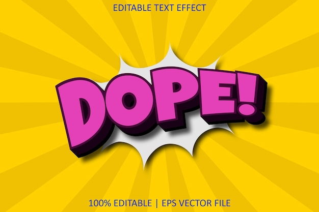 Dope with comic style editable text effect