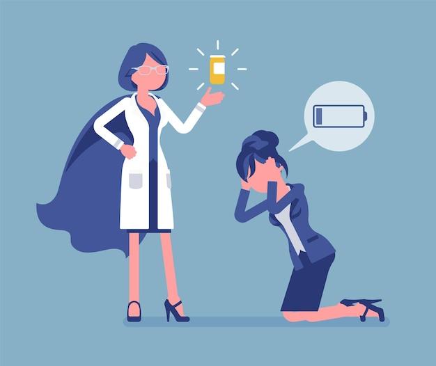 Doping for female clerk illustration