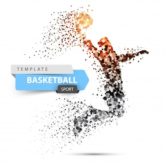 Dot basketball illustration