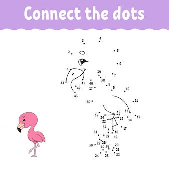 Dot to dot. connect the dots game