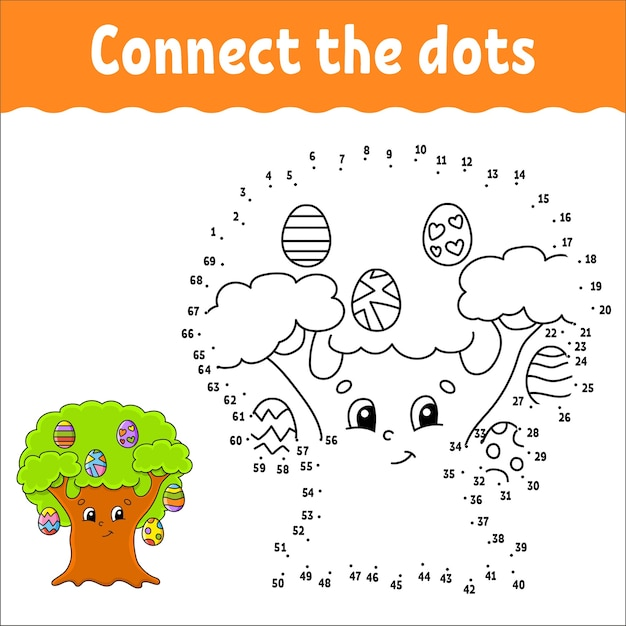 Dot to dot game. draw a line. for kids. activity worksheet.
