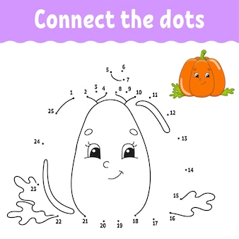 Dot to dot game. draw a line. for kids.