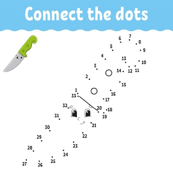 Dot to dot game draw a line