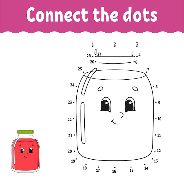 Dot to dot game. draw a line.