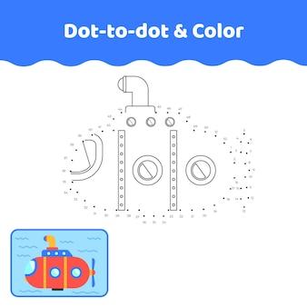 Dot to dot submarine worksheet