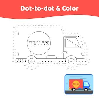 Dot to dot truck worksheet