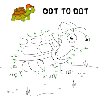 Dot to dot worksheet with turtle