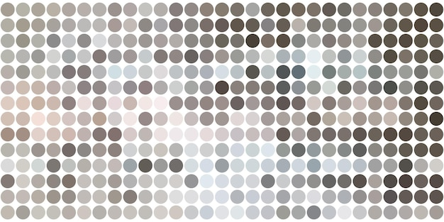 원, 도트 세트가 있는 도트 패턴 배경. 크리에이 티브 디자인 템플릿입니다. 기술 하프톤 그림입니다.