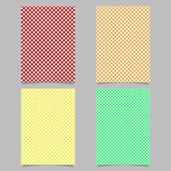 Dot pattern page cover background template set - vector brochure design illustration