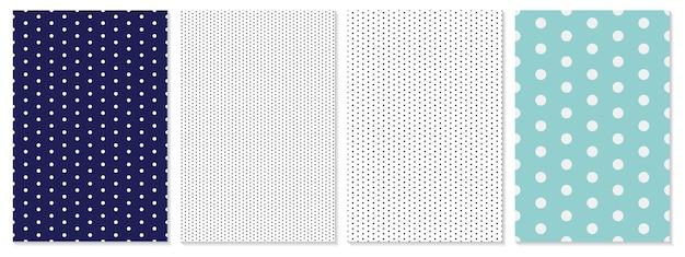 ドットパターンセット水玉背景。