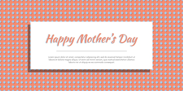 Dot seamless pattern with happy mothers day lettering gift template design