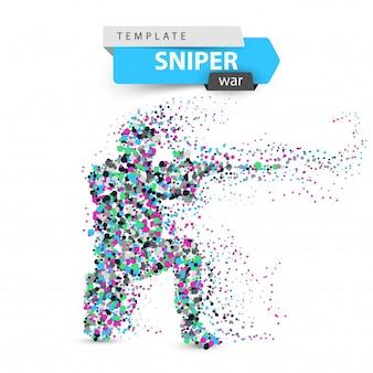Dot sniper illustration