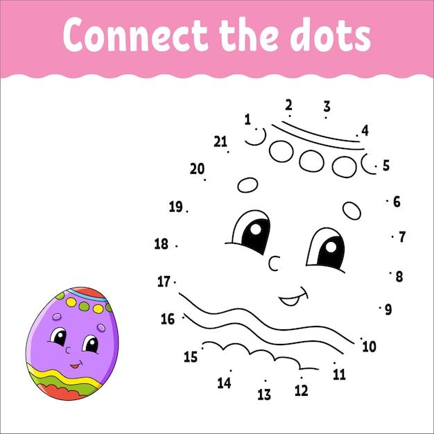 Игра точка-точка. проведите линию. для детей. рабочий лист. книжка-раскраска.