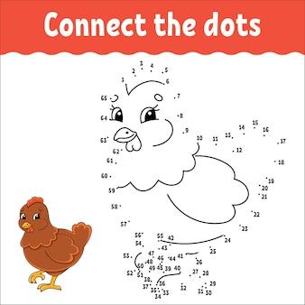 Игра точка-точка. проведите линию. для детей. рабочий лист.