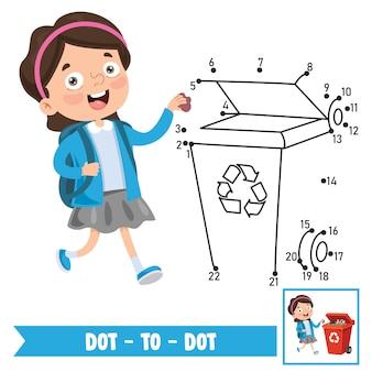 Dot to dot иллюстрация игры для детей образование