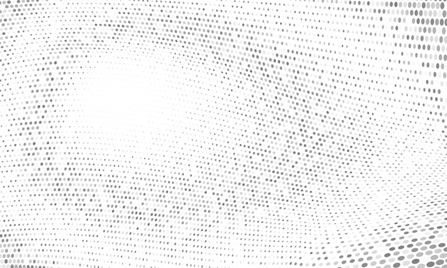 Dot wave pattern abstract halftone background