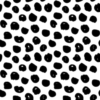 Dots handdrawn seamless pattern. vector illustration of grunge tileable background.