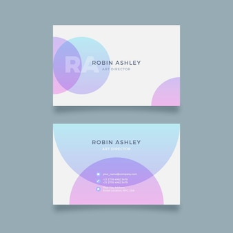 Dots pastel gradient business cards
