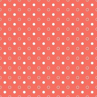 Living coral 컬러의 도트 패턴. 추상적인 기하학적 배경입니다. 2019년 올해의 컬러. 고급스럽고 우아한 스타일의 일러스트레이션