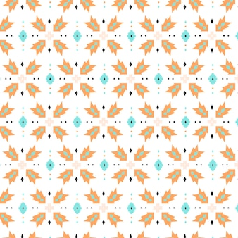Dots and shapes songket seamless pattern template