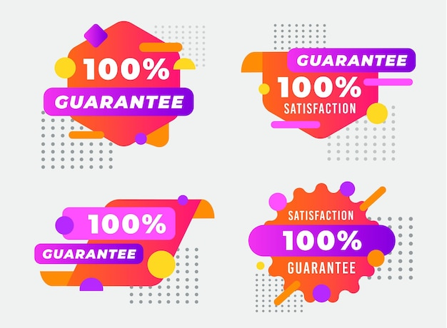 Dotted 100% guarantee label collection