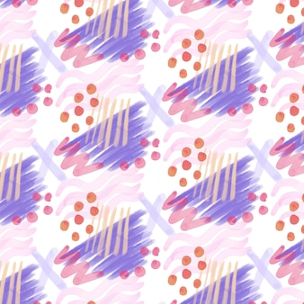 Dotted abstract watercolor seamless pattern