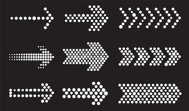 Dotted arrows set