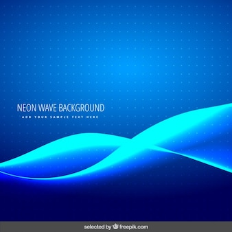 Dotted background with neon waves