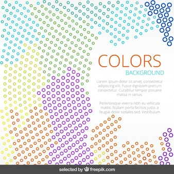 Dotted doodle colorful background