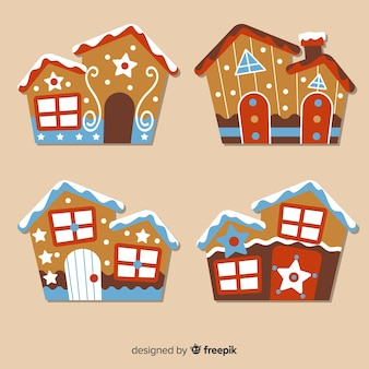 Dotted gingerbread house collection