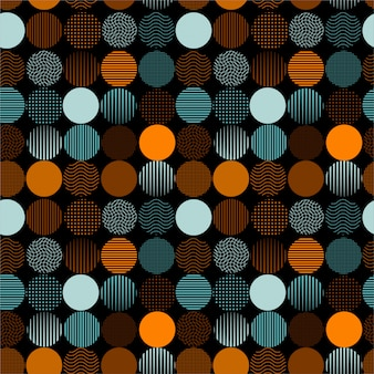 Dotted and striped circles pattern